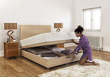 Ardennes Ottoman Bed & 21cm Original Mattress Set in  on FV