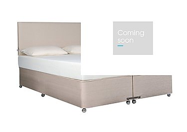 Ardennes Ottoman Bed & 22cm Sensation Mattress Set in Biscuit on FV