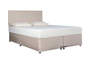 Ardennes Ottoman Bed & 22cm Sensation Mattress Set in Biscuit on FV