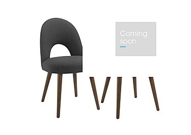 Nexus Upholstered Pair of Dining Chairs in Charcoal on FV