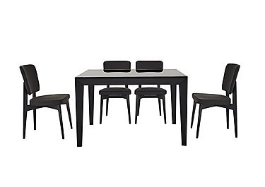 Abaco Extending Table and 4 Chairs in Smoke Grey on Furniture Village