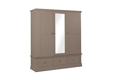 Brown wardrobes white slider mirrored furniture village for Furniture village wardrobes