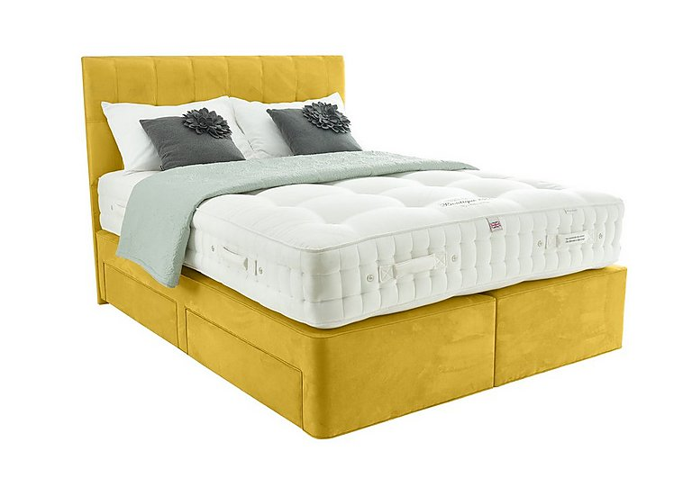 The Handmade Bed Company By Millbrook Beds Boutique 2500 Super King Size Zip Link Divan Bed