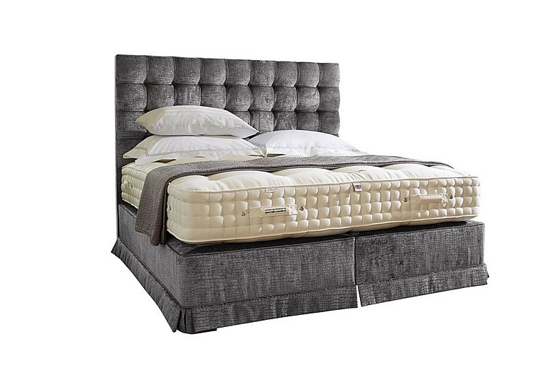 Boutique 3000 Pocket Sprung Divan Set in Dundee Steel 309 on FV
