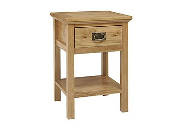 Compton Lamp Table in Oak on Furniture Village