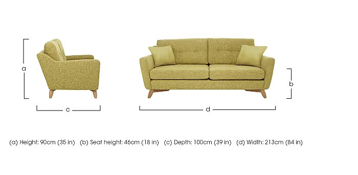 Cosenza Large Sofa  in {$variationvalue}  on FV