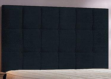 Cube Headboard in Black Chenille on FV