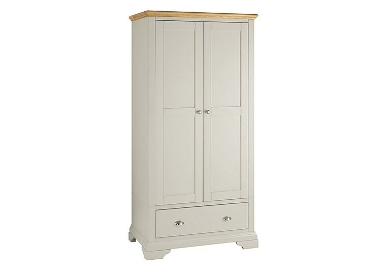 Emily Double Wardrobe in Soft Grey And Oak on FV