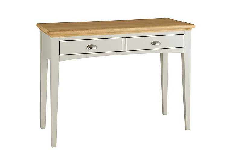 Emily Dressing Table in Soft Grey And Oak on Furniture Village