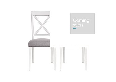 Emily Pair of Crossback Dining Chairs in Soft Grey And Walnut on FV