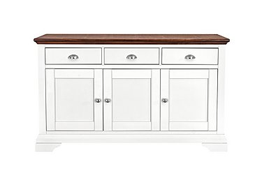 Emily Wide Sideboard in Soft Grey And Walnut on FV