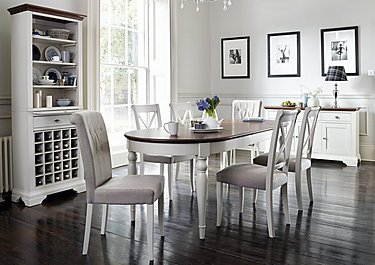 Emily Extending Table and 4 Cross Back Dining Chairs in  on FV