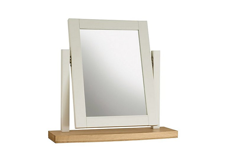 Emily Vanity Mirror in Soft Grey And Oak on FV