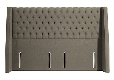 Leweston Headboard in 348 Herringbone Fawn on FV