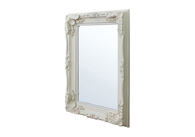 Carved Louis Mirror in Cream on FV