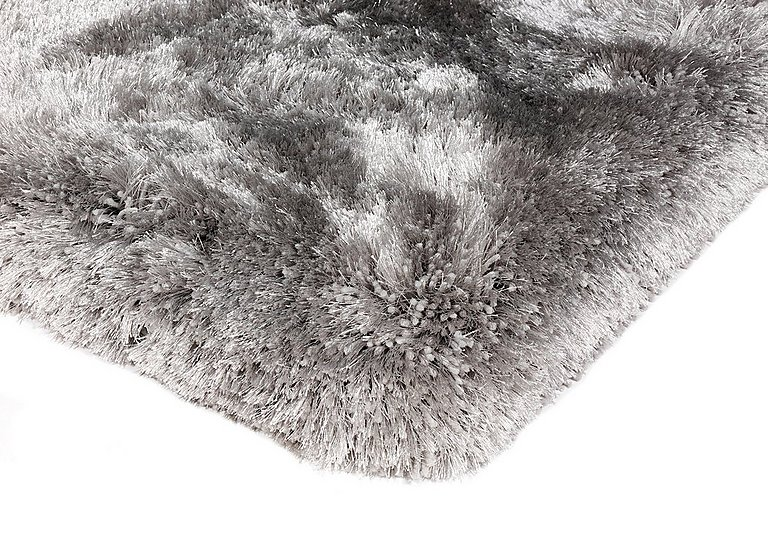 Plush Rug in Silver on Furniture Village