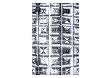 Plaza Bamboo Silk Rug in Black on FV