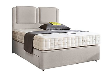 Revive Deluxe Cotton Pocket Sprung Divan Set in 564 Imperio 903 Stone on Furniture Village
