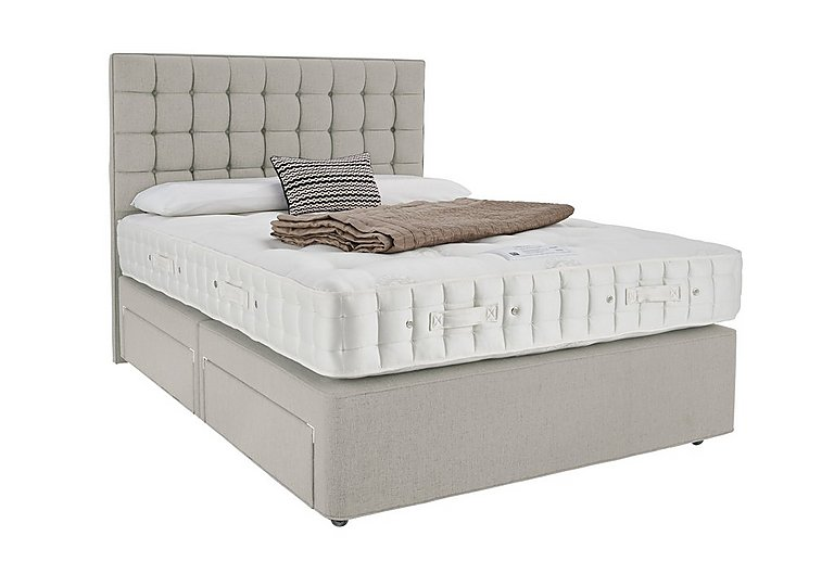 Revive luxury silk pocket sprung divan set for Pocket sprung divan set