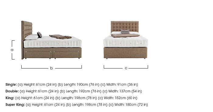 Revive Luxury Silk Pocket Sprung Divan Set in  on FV