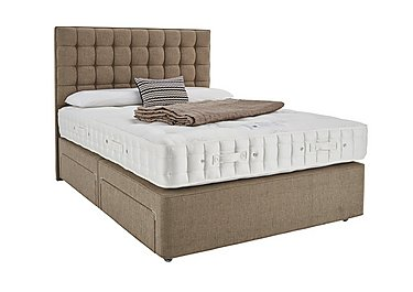 Revive Luxury Silk Pocket Sprung Divan Set in 324 Chocolate Weave on FV