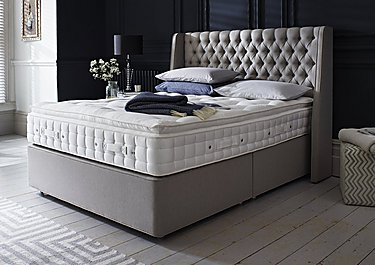 Super king size beds furniture village for Grey divan king size bed