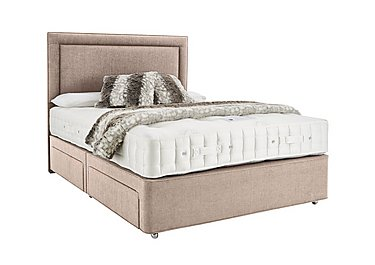 Revive Ortho Wool Pocket Sprung Divan Set in 564 Imperio 903 Stone on FV