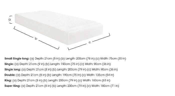 Cloud 21cm Memory Foam Mattress in  on FV