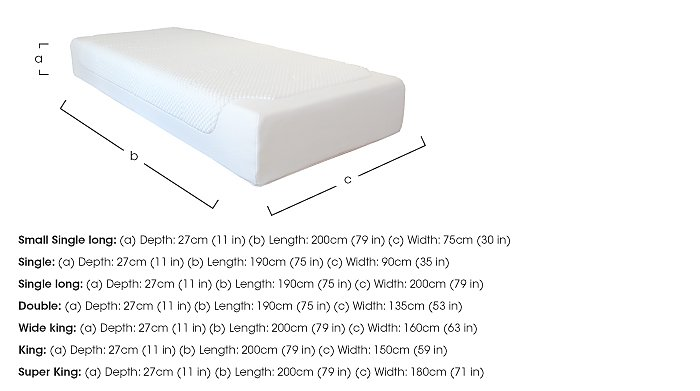 Cloud 27cm Memory Foam Mattress in  on FV