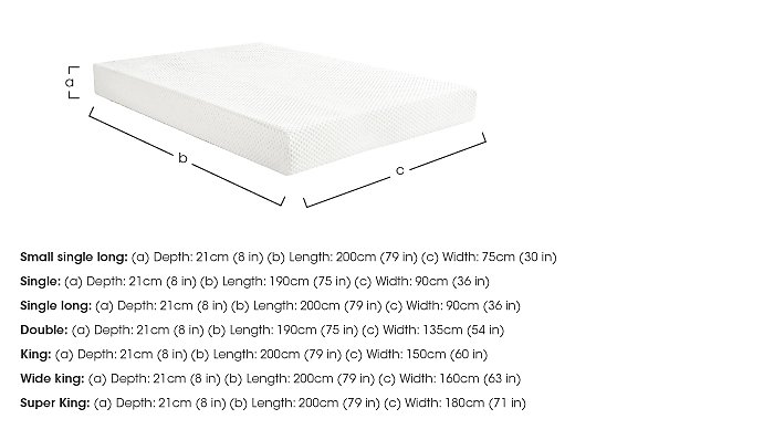 Original 21cm Memory Foam Mattress in  on Furniture Village