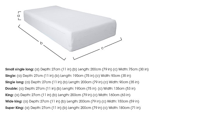 Original 27cm Memory Foam Mattress in  on Furniture Village
