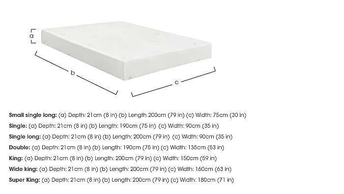 Sensation 21cm Memory Foam Mattress in  on FV