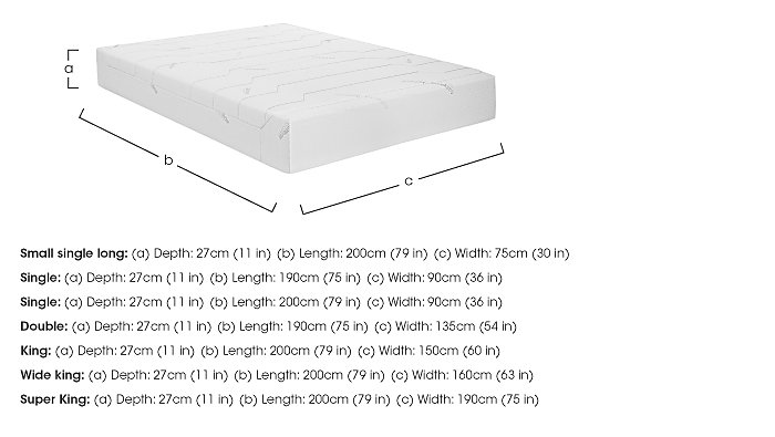 Sensation 27cm Memory Foam Mattress in  on FV