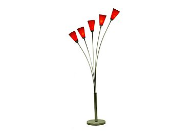 Tulip Floor Lamp in Red on Furniture Village