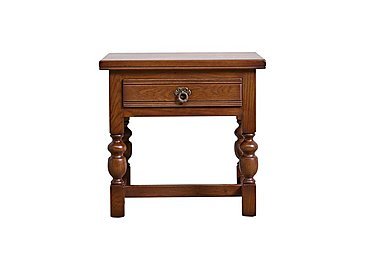 Old Charm Wide Lamp Table in Chestnut Traditional on FV