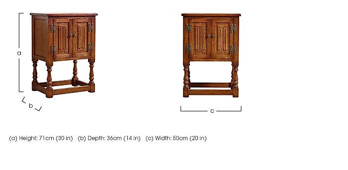 Old Charm Pedestal Cabinet in  on Furniture Village