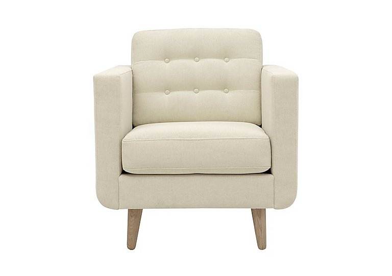 Alva Fabric Armchair in Amafli-19205 Sand-Natural Feet on FV