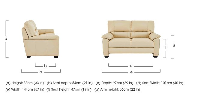 Apollo 2 Seater Leather Sofa  in {$variationvalue}  on FV