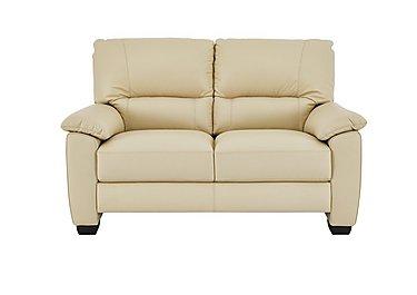 Apollo 2 Seater Leather Sofa in Bv-004c Bone on Furniture Village
