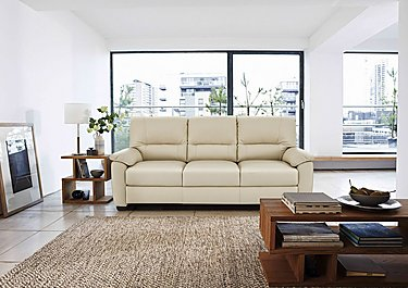 Apollo 3 Seater Leather Sofa in  on FV