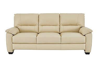 Apollo 3 Seater Leather Sofa in Bv-004c Bone on FV
