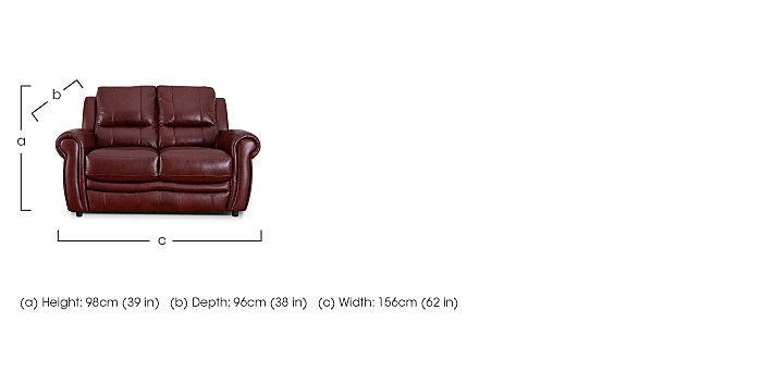 Arizona 2 Seater Leather Recliner Sofa in  on FV