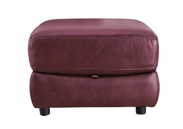Arizona Leather Storage Footstool in Go/S 173e Roan Rouge on FV