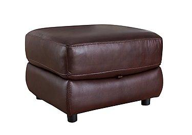 Arizona Leather Storage Footstool in Go/S 182e Sequoia on Furniture Village