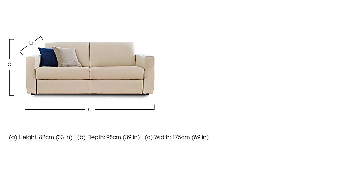 Arona 2 Seater Leather Sofa in  on FV
