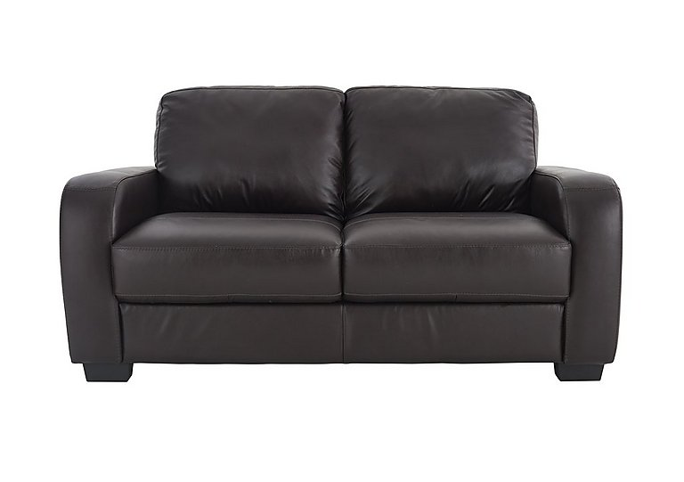 Astor 2 Seater Leather Sofa in Go-174e Mahogany on FV