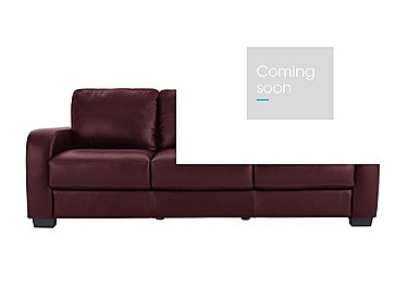 Astor 3 Seater Leather Sofa in Go-173e Roan Rouge on FV