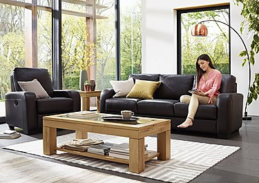 Astor 3 Seater Leather Sofa in  on FV