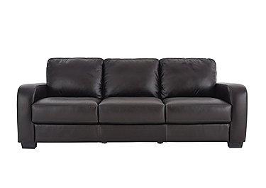 Astor 3 Seater Leather Sofa in Go-174e Mahogany on Furniture Village