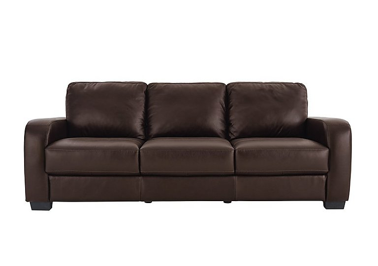 Astor 3 seater leather sofa for go for Leather sofa deals